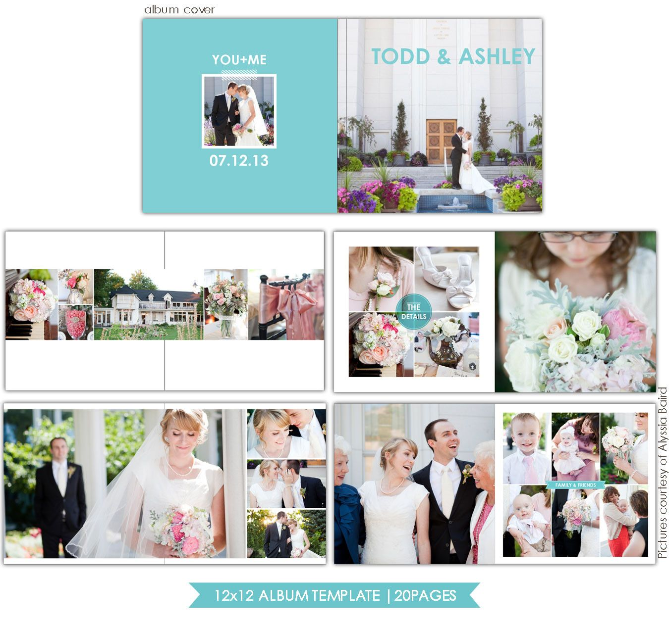 Clean Style 12x12 Wedding Album template – Template for Photo Album