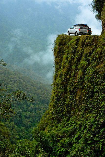 "El Camino de la Muerte, considered ""the world's most dangerous road"", Bolivia"