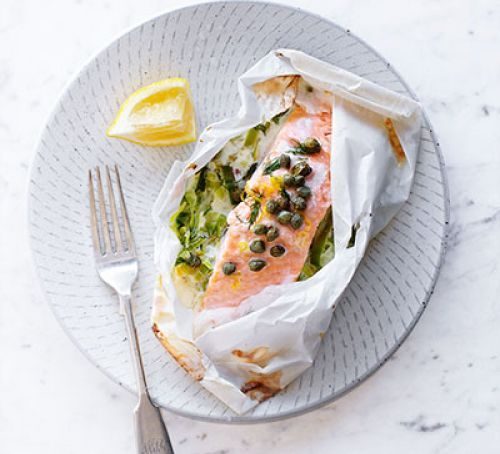 Salmon leek parcel recipe salmon recipes and foods salmon leek parcel forumfinder