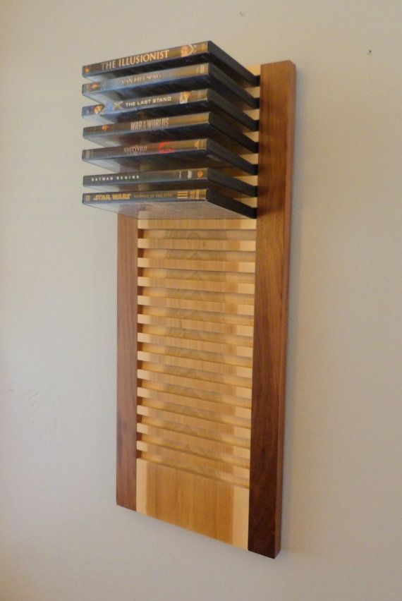 hanging dvd rack from Etsy