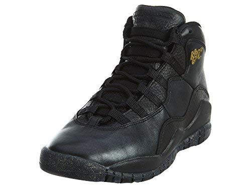 new product f0ddb 578a7 Jordan Nike Kids Air 10 Retro Bg Black Black Drk Grey Mtllc GLD Basketball  Shoe 4.5 Kids US
