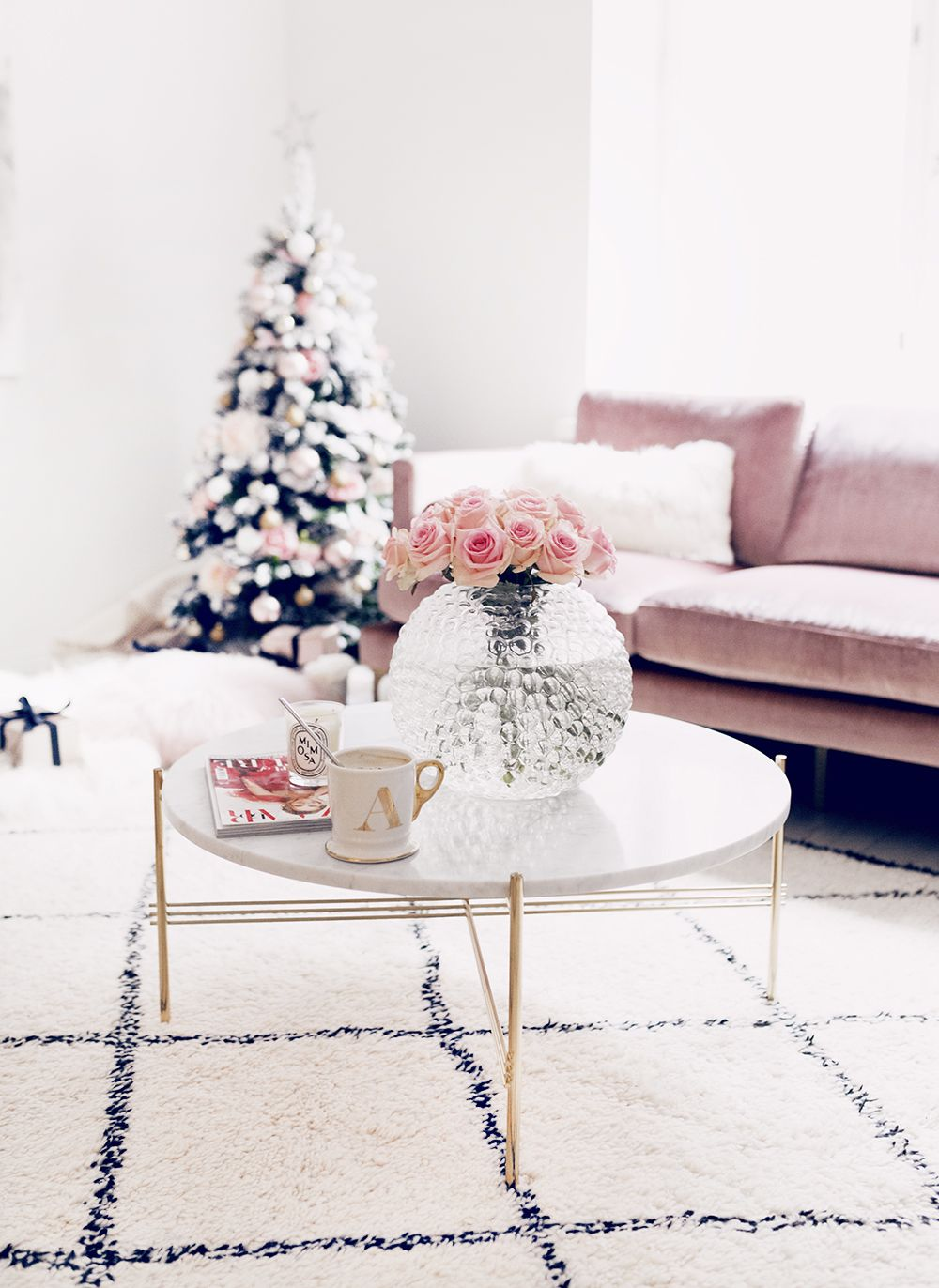 Couchtisch Alexa Alexa Dagmar S Blush Pink Christmas Living Room Home Decor