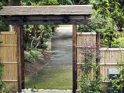 Zen Japanese Garden Wooden Gate Part 84