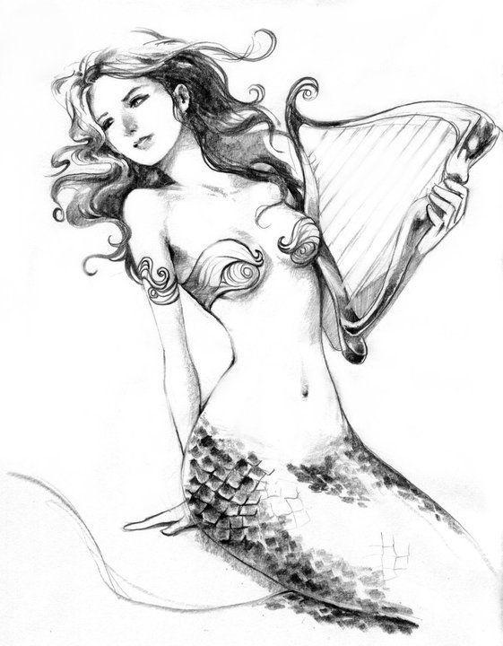 Sirena - Diseño Tattoo