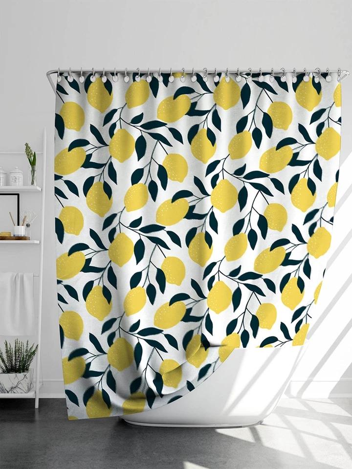 Lemon Pattern Shower Curtain Patterned Shower Curtain Lemon Patterns Shower Curtain