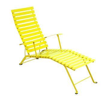 Fermob Taittuva Bistro Aurinkotuoli Sitruunankeltainen Bistro Furniture Lounge Chair Outdoor Fermob