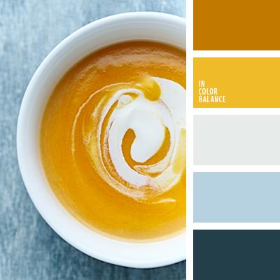 бледно-голубой, голубой, желтый, медовый, оттенки цвета тыквы, подбор цвета, светло-оранжевый, серебряный, серый, синий, тепло-желтый, тыквенный, цвет тыквы, цвет чирок, цветовое решение для дома.