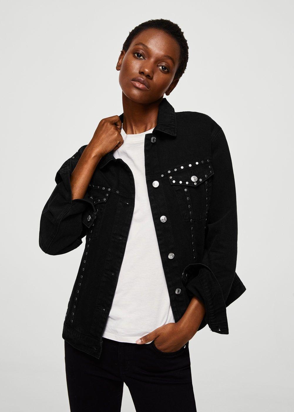 Blouson Denim Clouté Pinterest Vêtements Femme HAHRY
