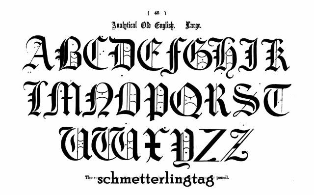 Victorian Alphabet Book Ancient Initials Monograms 1858