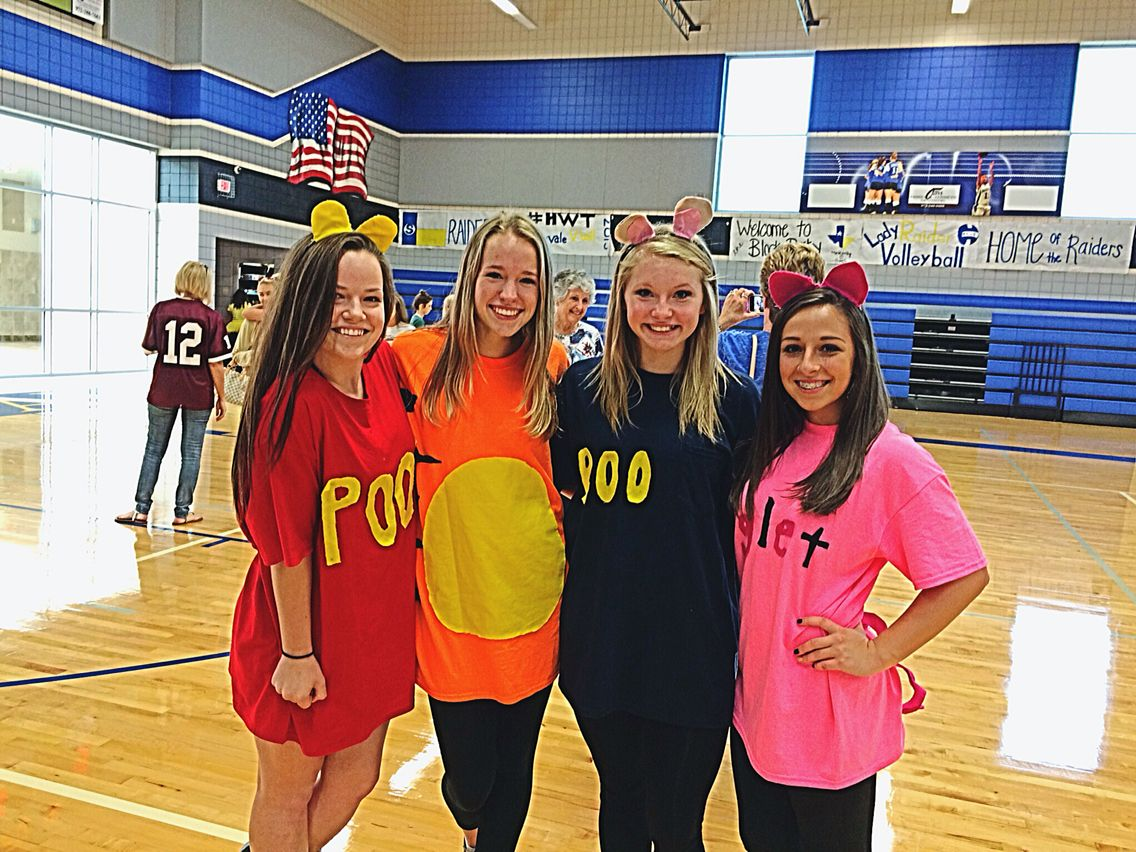 Winnie The Pooh Disney Spirit Day Characters Piglet Roo Tigger Pooh Halloween Costumes F Spirit Week Outfits Outfit Of The Day Movie Character Costumes