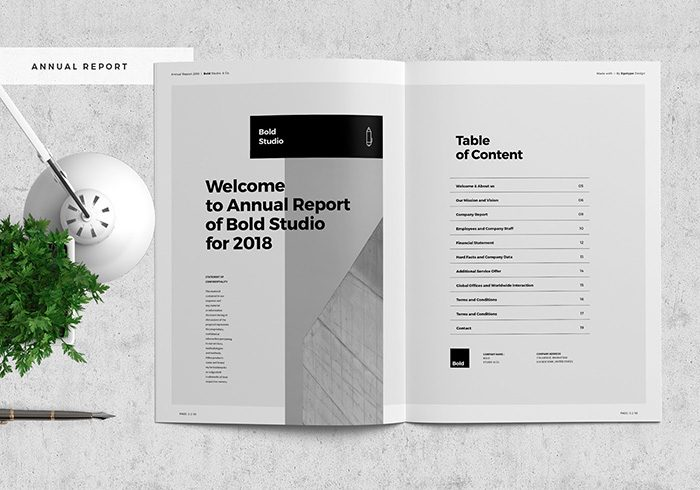 Annual Report Template Word (4) | PROFESSIONAL TEMPLATES #annualreports