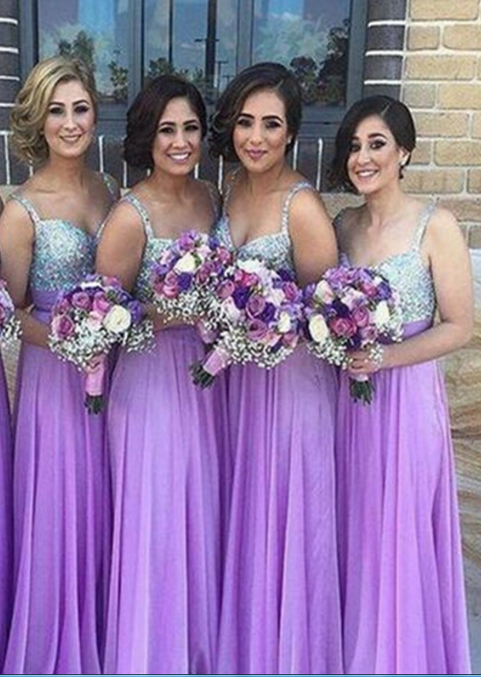 Chiffon Bridesmaid Dress,Lilac Bridesmaid Gown,Bridesmaid Gowns ...