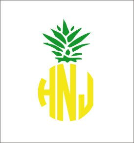 Pineapple Monogram Decal Vinyl Decal Car By CustomVinylbyBridge - Monogrammed custom vinyl decals for car