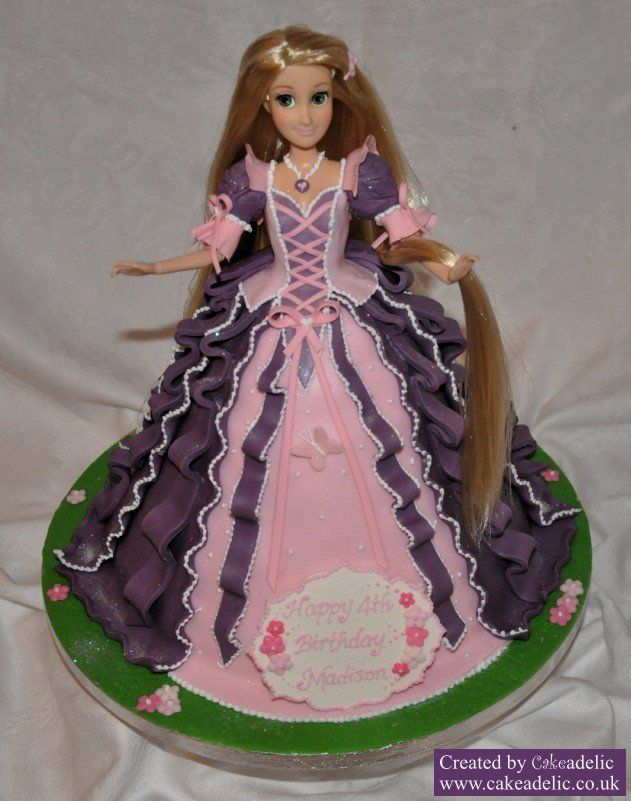 Awe Inspiring Tangled Birthday Cake Dolly Varden Purple Rapunzel Rapunzel Birthday Cards Printable Inklcafe Filternl