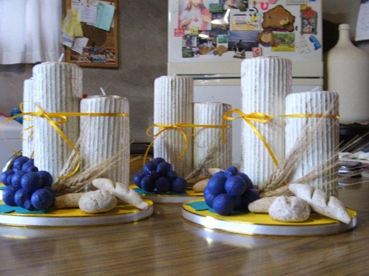 Como decorar un centro de mesa para primera comuni n - Ideas para decorar una primera comunion de nino ...