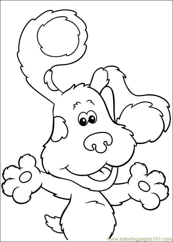 blues clues 19 coloring page free printable coloring pages - Blues Clues Coloring Pages