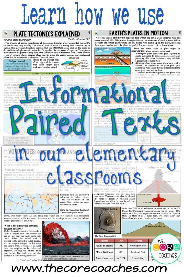 Learn how we use paired texts in the classroom. Volcano and Plate ...