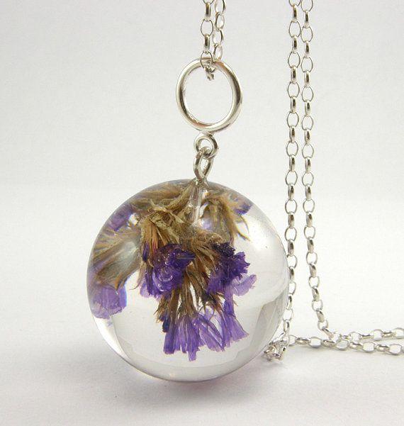 Diy flower and resin necklace r sine pinterest r sine bijoux en r sine et collier pendentif - Bijoux en resine ...
