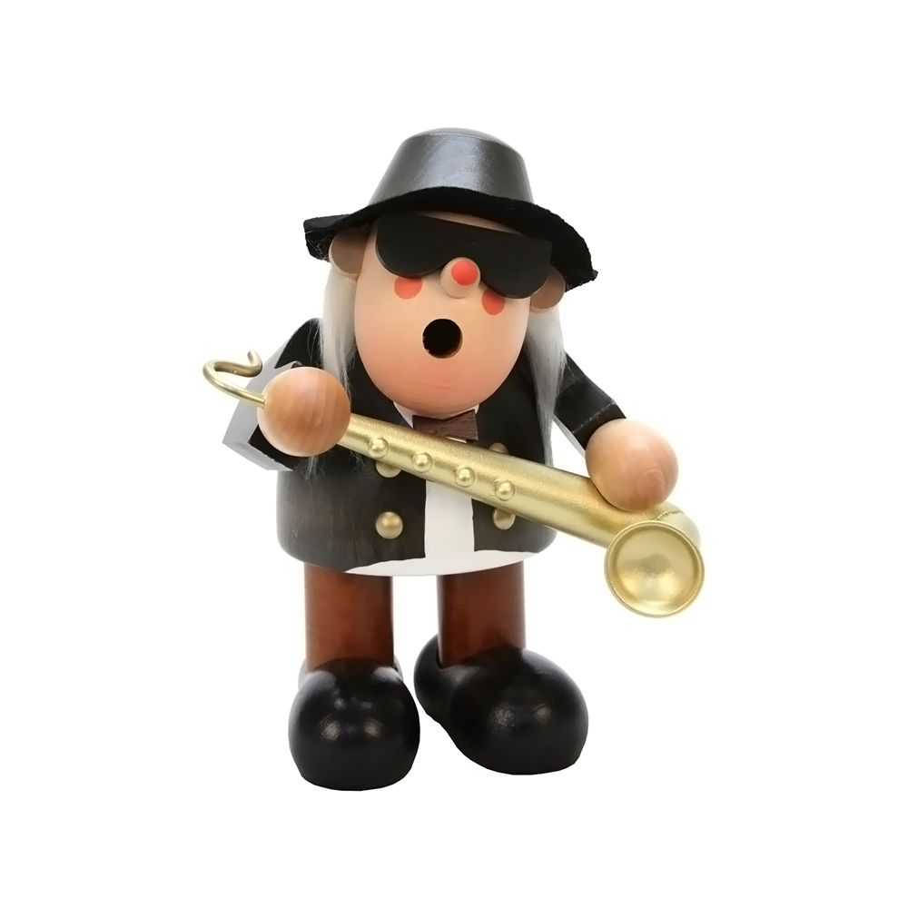 """awesome Christian Ulbricht Smoker SaxophonistAlexander Taron Christian Ulbricht Smoker Saxophonist 6.5""""""""H x 5.5""""""""W x 5""""""""D Check more at http://christmasshortstory.com/product/christian-ulbricht-smoker-saxophonist/"""
