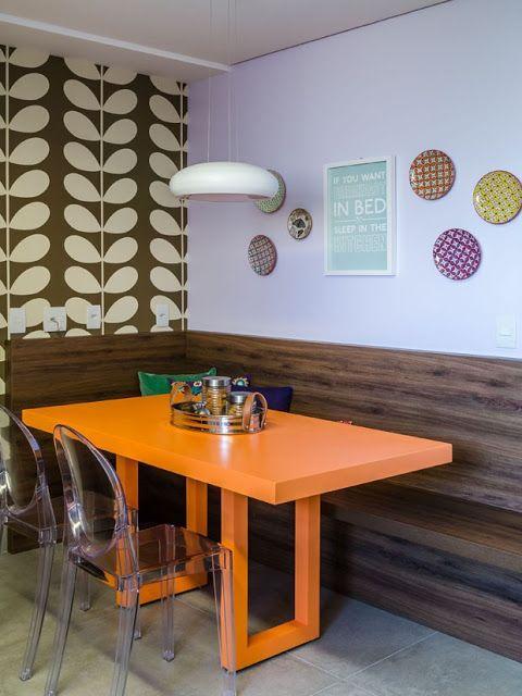 Mesa Cozinha Estilo Canto Alemão Moderno Decoração