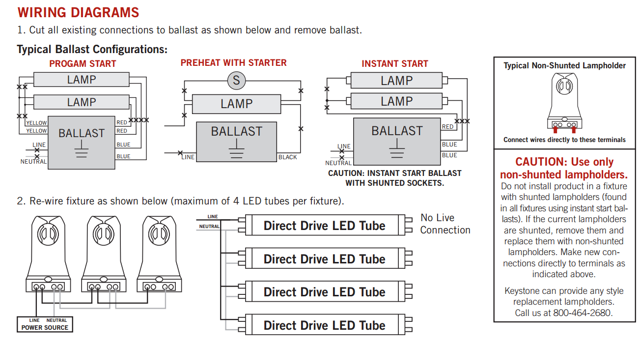 Led Fluorescent Tube Wiring Diagram Led fluorescent, Led