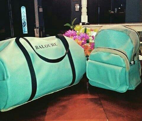Custom Matching travel bags. Baloure duffle and backpack ...