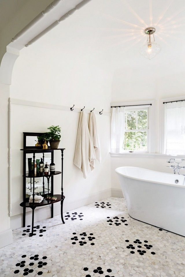 Tips For Renovating Your Bathroom On A Budget BATHROOM Pinterest - Honeycomb tile bathroom