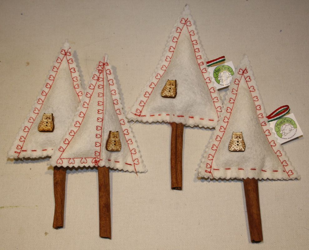 White christmas trees with lavender and cinnamon smell from www.masnimesi.net