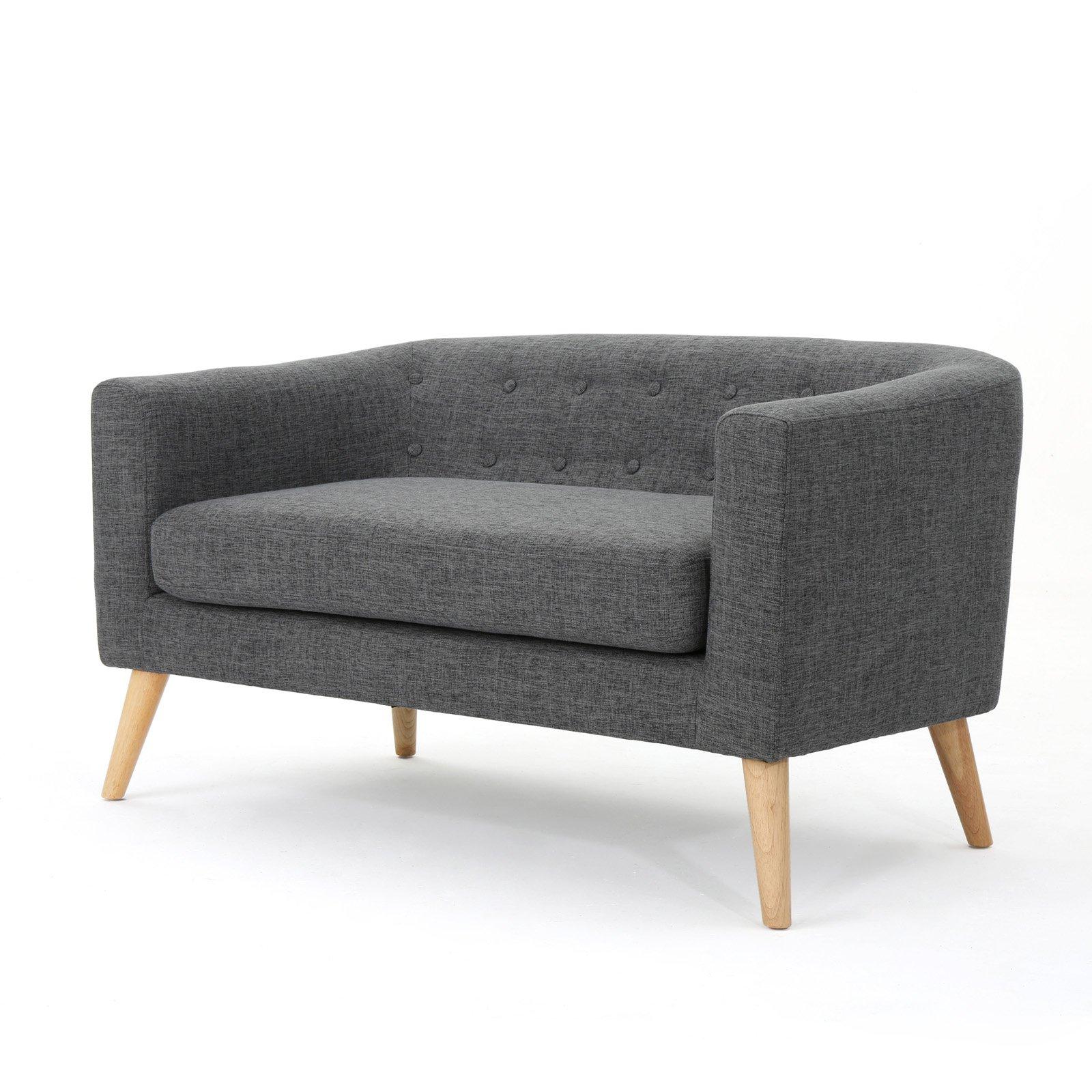 Brilliant Brandon Fabric Mid Century Modern Loveseat Muted Purple In Creativecarmelina Interior Chair Design Creativecarmelinacom