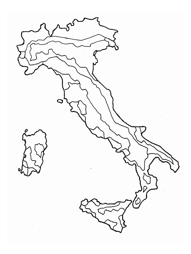 Cartina Dell Italia Da Stampare.Cartine Geografiche Da Colorare Mamma E Casalinga Geografia Attivita Geografia L Insegnamento Della Geografia