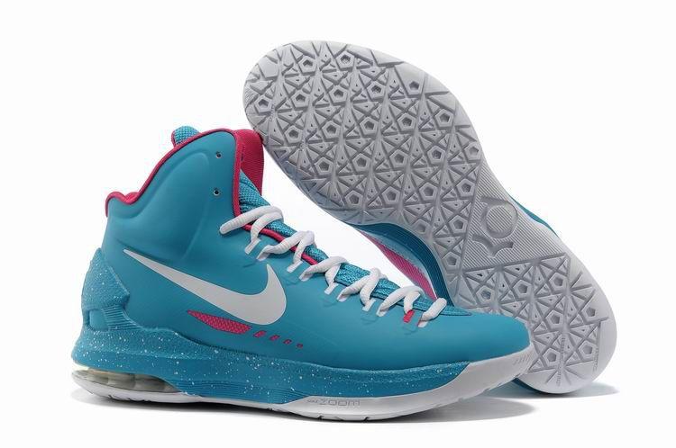 buy online 31770 d4840 Nike Zoom KD V Bleu Homme Chaussure. Chlorine Blue Hot Pink White Nike Zoom  KD V 554988 316 Kevin Durant Shoes 2013 White