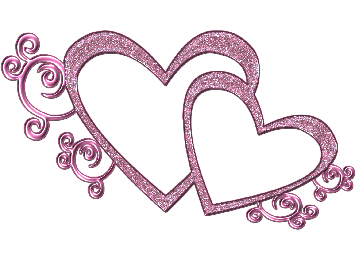 double free wedding heart clipart pink double heart png by
