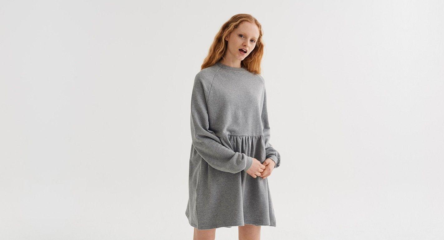 LO Basics Grey Oversized Sweater Dress - Clothing - New In ...