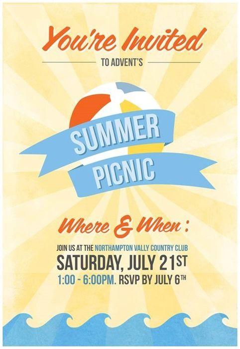Advent\u0027s Summer Picnic Invitation Card by Jen Chesterson Designs