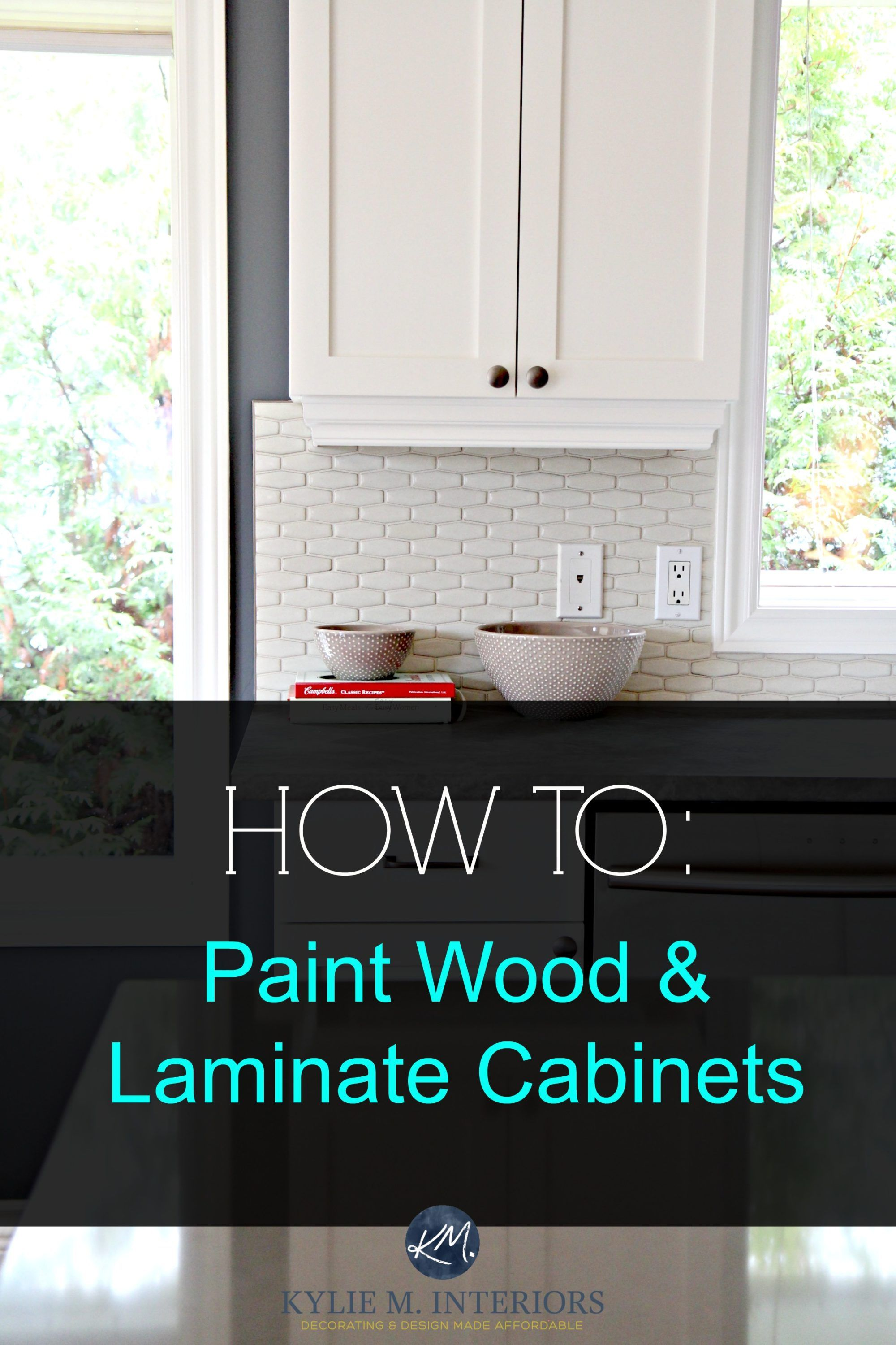 How to Paint Wood Furniture and Wood / Laminate Cabinets – Before ...
