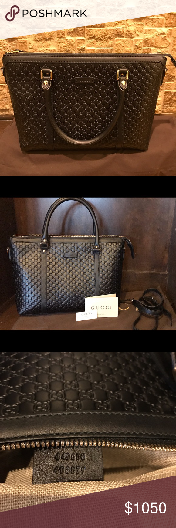 776d675716d1c1 Brand New Gucci Leather Micro Guccissima tore. No trade please. Brand new!  Purchased this Auth Gucci black leather Guccissima bag in Italy. Brand new.