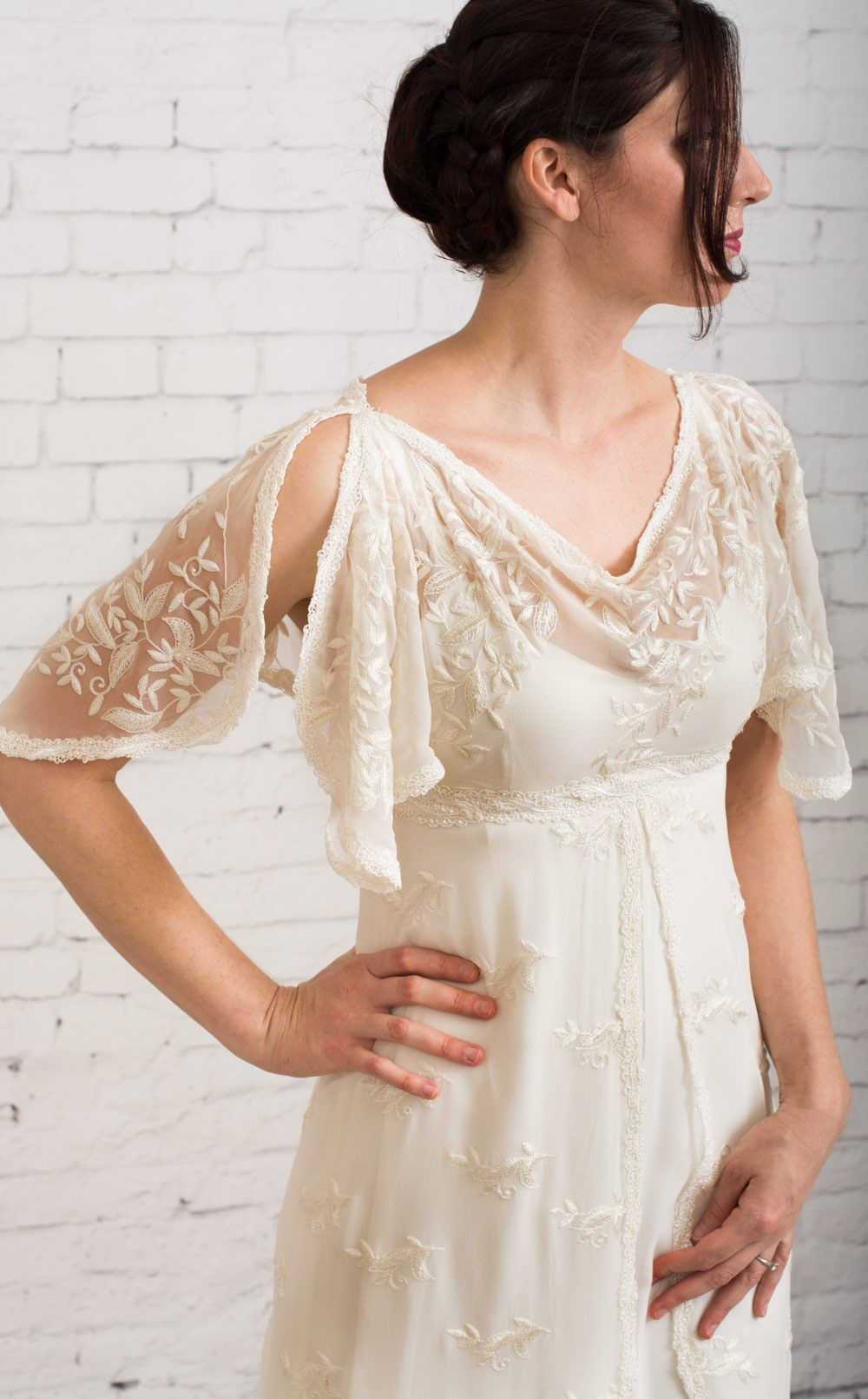 Athena Simple Wedding Dress Casual Casual Wedding Dress Vintage Dresses [ 1610 x 1000 Pixel ]