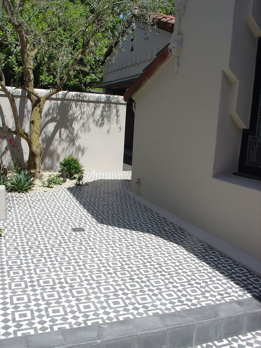 Fez Black And White Cement Tile Patio Products I Love - Cement tiles for backyard