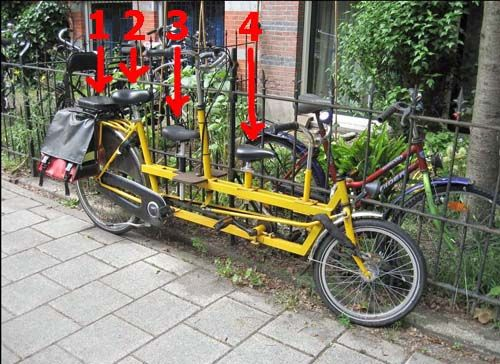 Bike With Four Seats I Wonder If It Is Hard To Ride With That