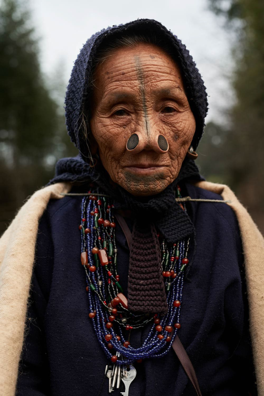 Few of the last women from the Apatani tribe who have