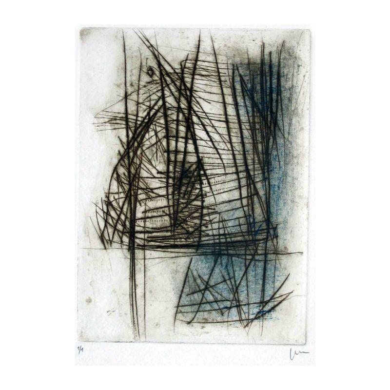Aquatinte and drawing point on Rives paper. 13 x 17,8 cm. SanchezAlamo 2006.