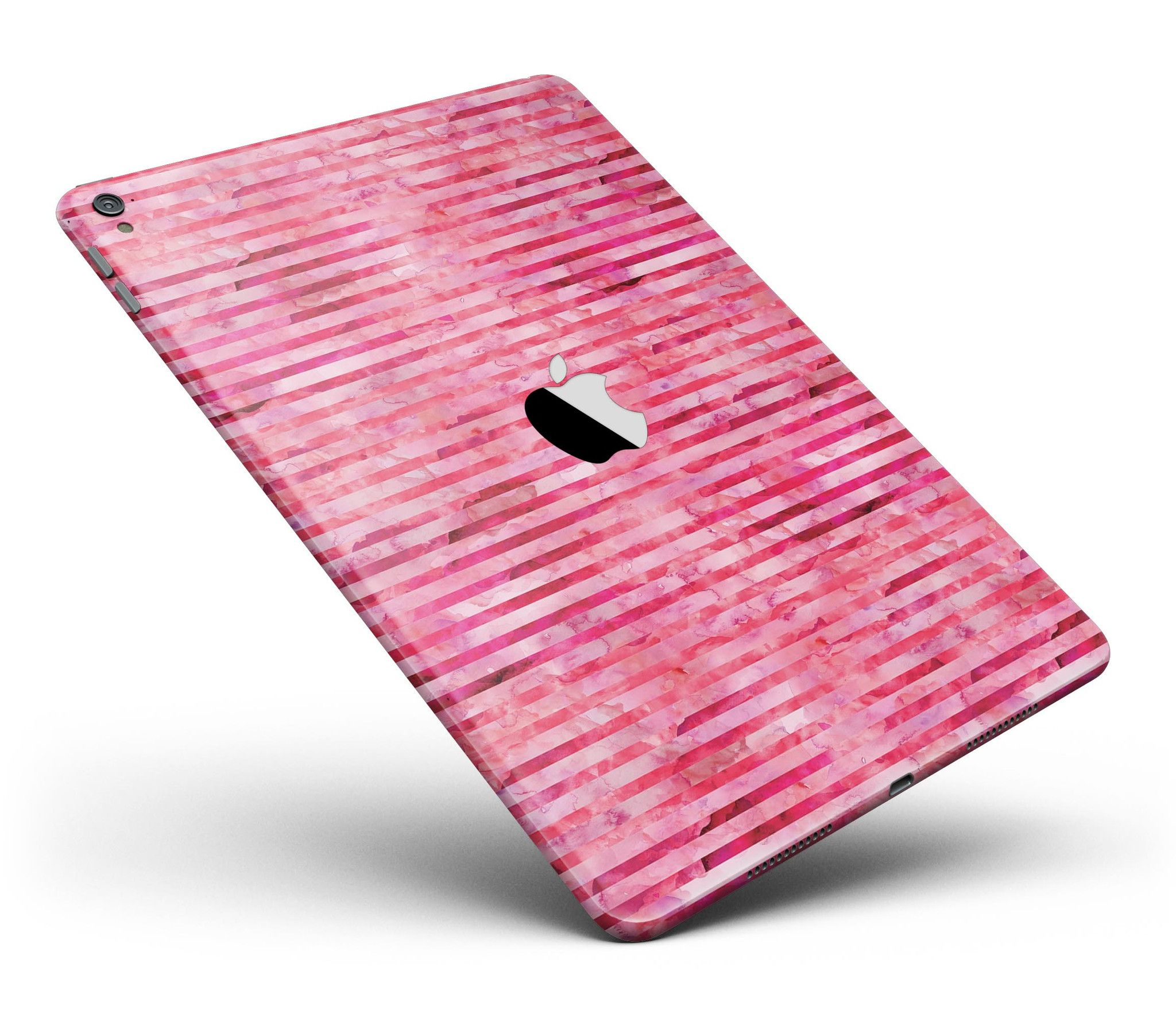 """Pink Watercolor Stripes Full Body Skin for the iPad Pro (12.9"""" or 9.7"""" available) from DesignSkinz"""