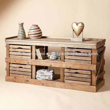 Recycled Wood Furniture - Buy Drawer Tv Video Unit,Distressed Wood