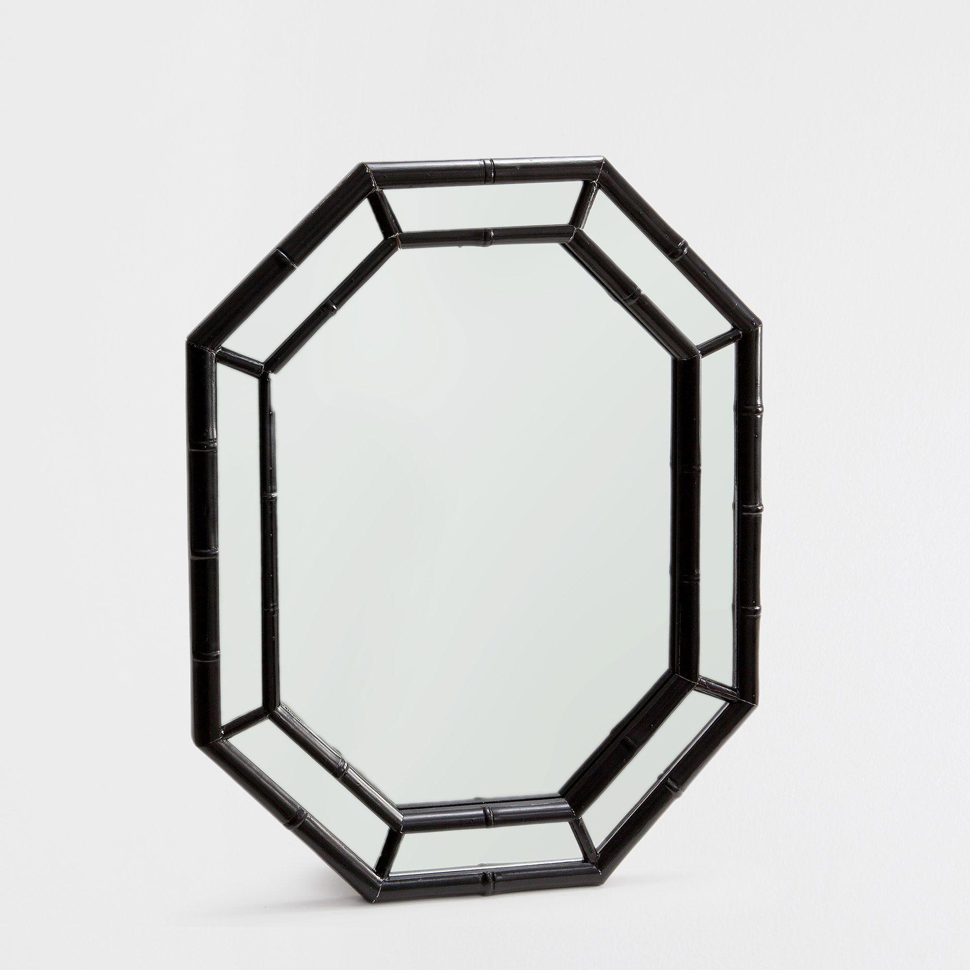 zwarte bamboe spiegel spiegels decoratie zara home holland wishlist pinterest bamboe. Black Bedroom Furniture Sets. Home Design Ideas