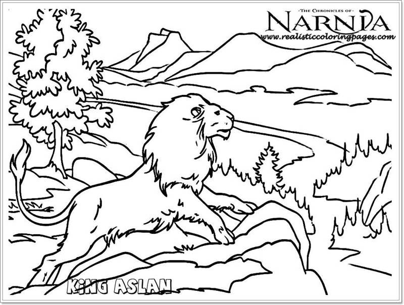King Aslan Chronicles Of Narnia Coloring Pages With Images