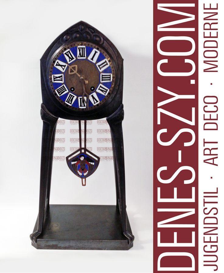 ALBIN MUELLER ART NOUVEAU TABLE CLOCK, DARMSTADT STOLLBERG