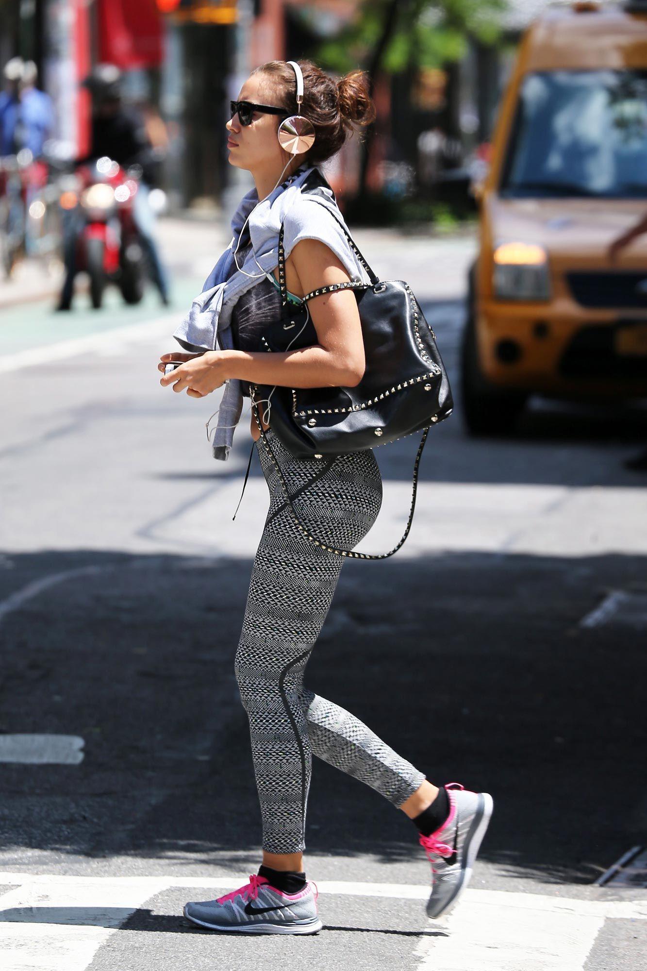 Irina Shayk Printed Leggings