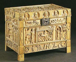 Arqueta Brescia Datada a finales del siglo IV. Ideada para contener reliquias está diseñada con escenas del Antiguo y Nuevo Testamento.