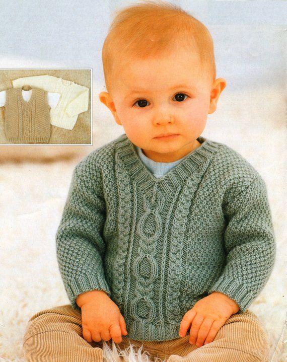 Pdf Knitting Pattern Vintage Baby Knitting Pattern Six Sizes