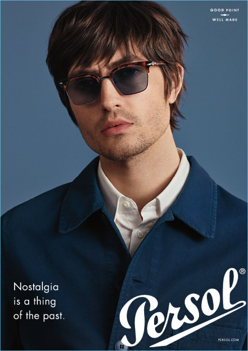 c44e9a0958e Spencer Draeger stars in Persol s new advertising campaign.